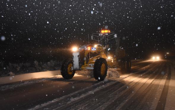 Muğla'da yoğun kar yağışı