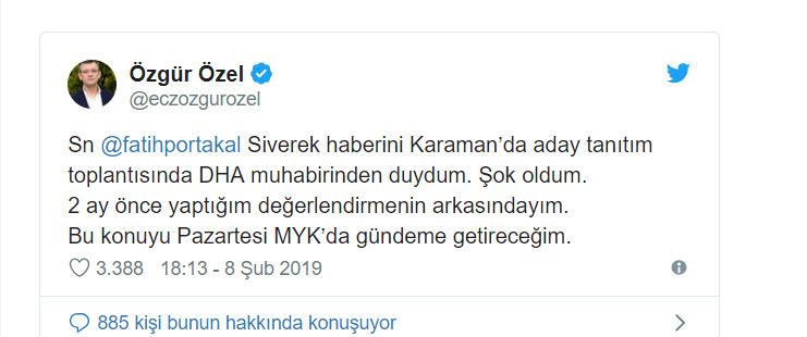 CHP'den Fatih Portakal'a cevap: Şoke oldum