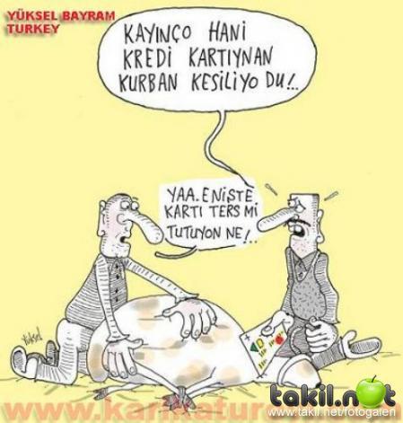 En komik Kurban Bayramı karikatürleri