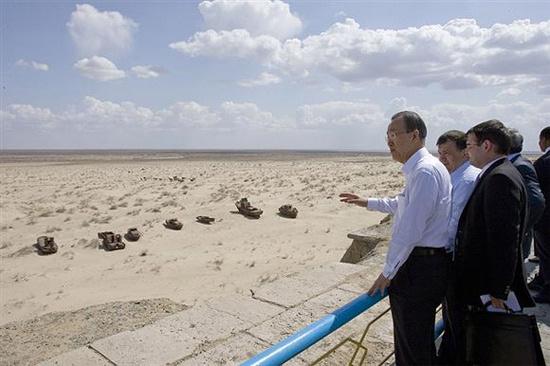 Aral Gölü haritadan siliniyor