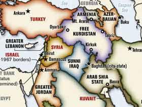 Ellerde dolaşan Kürdistan haritası
