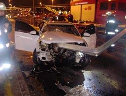 Bariyer aracı ok gibi deldi: 1 kadın öldü