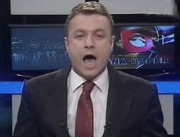 Haber spikerinin dili fena sürçtü