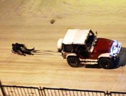 Ankara'lıların tehlikeli kar eğlencesi