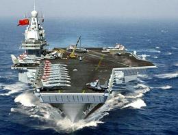 Çin'den uçak gemisiyle mesaj