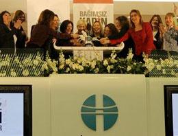 Borsa'da gongu kadınlar çaldı