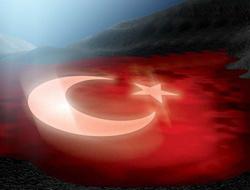 Uydudan Türk bayrakları