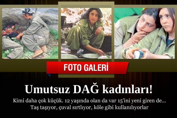 PKK'lı kadınların sefillik fotoğrafları