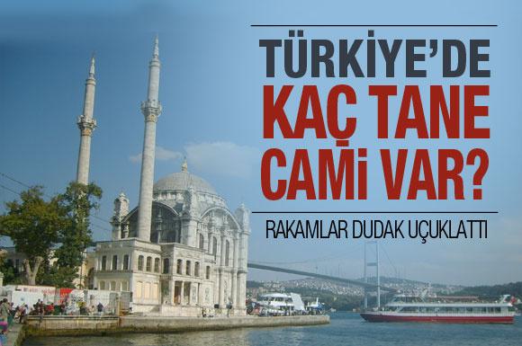 Türkiye'de kaç cami var biliyor musunuz?