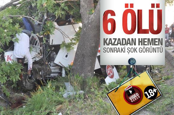 Kütahya'da korkunç trafik kazası