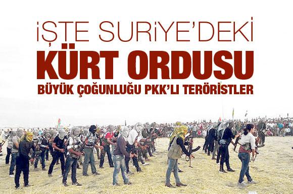 İşte Suriye'deki Kürt-PKK ordusu