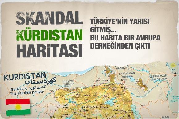 Skandal bir Kürdistan haritası daha!