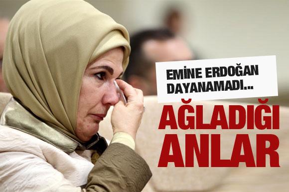 Emine Erdoğan gözyaşlarını tutamadı