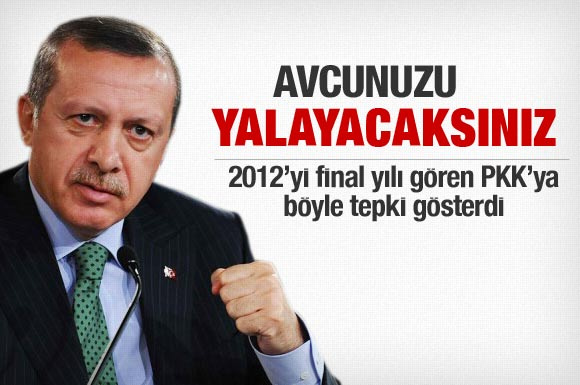 Erdoğan'dan PKK'ya sert sözler