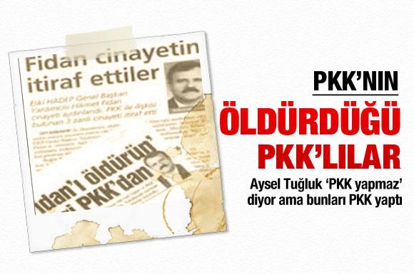 PKK'nın öldürdüğü PKK'lılar