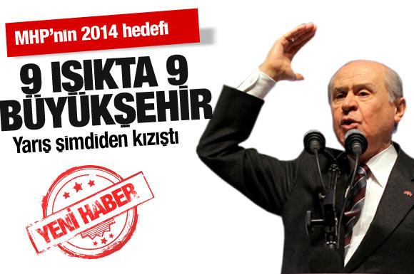 MHP'nin 2014'te alacağı 9 büyükşehir!