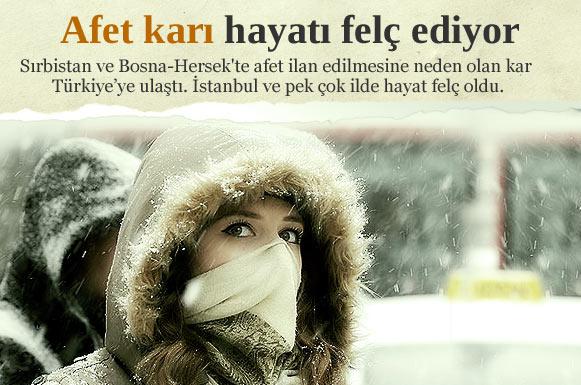 Ve kar İstanbul'a geri döndü