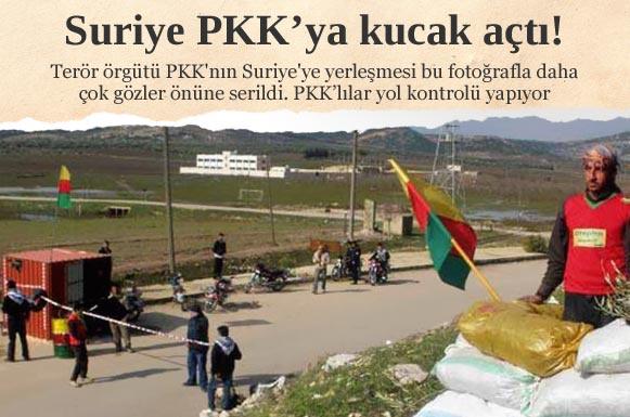 Suriye PKK'ya resmen kucak açtı