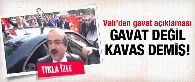 Vali Coş'tan 'gavat' açıklaması