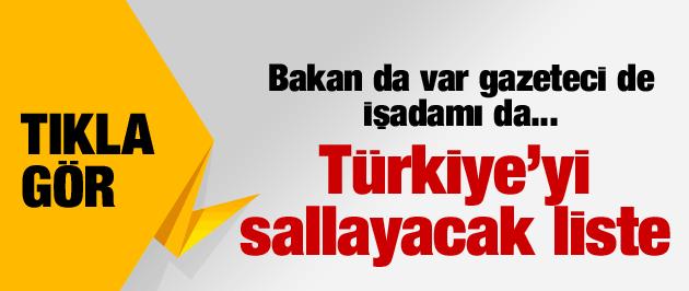 Türkiye'yi sallayacak Cemaatin dinleme listesi tıkla gör