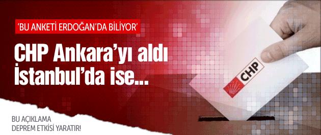 CHP Ankara'yı aldı İstanbul'da ise...