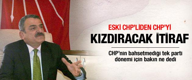 Eski CHP'liden CHP'yi kızdıracak itiraf