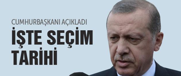 Erken seçim ne zaman Erdoğan tarihi verdi