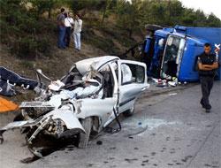 Hopada trafik kazası