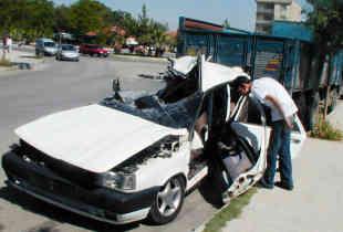 Denizlide trafik kazası