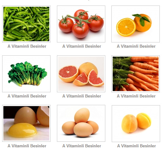Gıdalardaki Yararlı Vitaminler