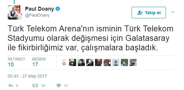 Türk Telekom CEO'su Paul Doany Twitter üzerinden