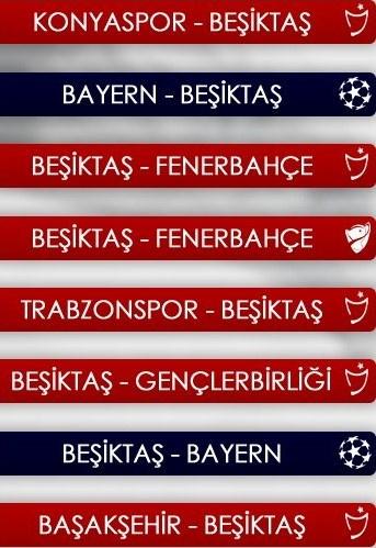 Beşiktaş'ın fikstürü