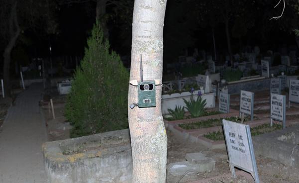 çorum'da mezarlığa kamera