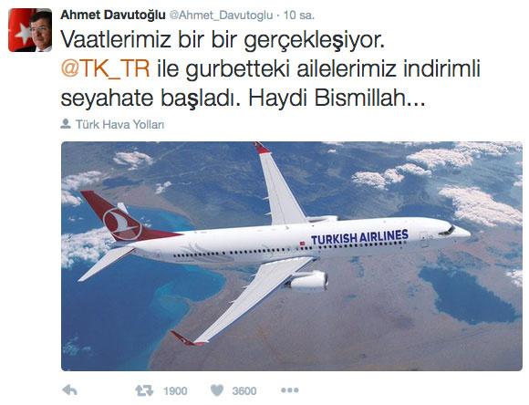 davutoğlu twitter