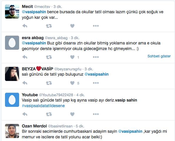 istanbulda okullar tatil mi twitleri tweet