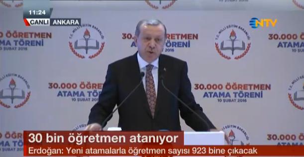 atama sonuçları şubat 2016 erdoğan'dan son dakika öğretmen atması açıklaması