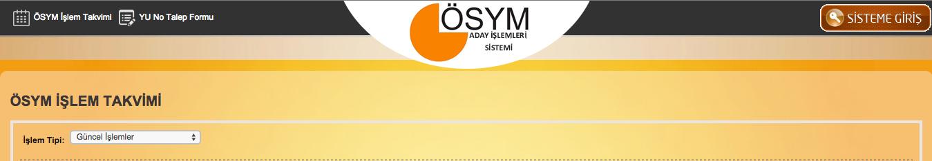 YGS sınav giriş yerleri 2016 sorgu ekranı ÖSYM ais
