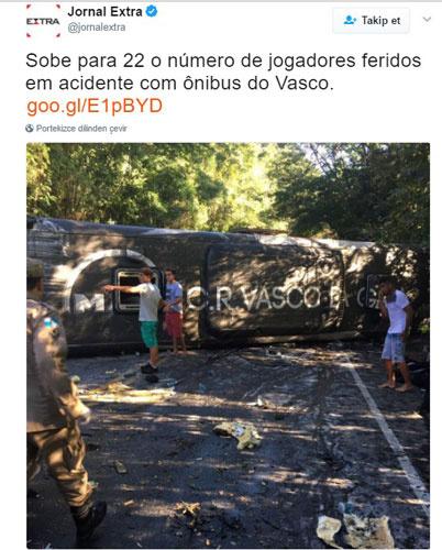 Takım otobüsü kaza yaptı! 22 yaralı...