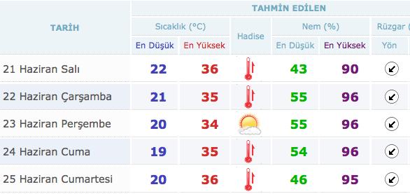 Kocaeli ve Sakarya hava durumu aşırı sıcak var - Internet Haber