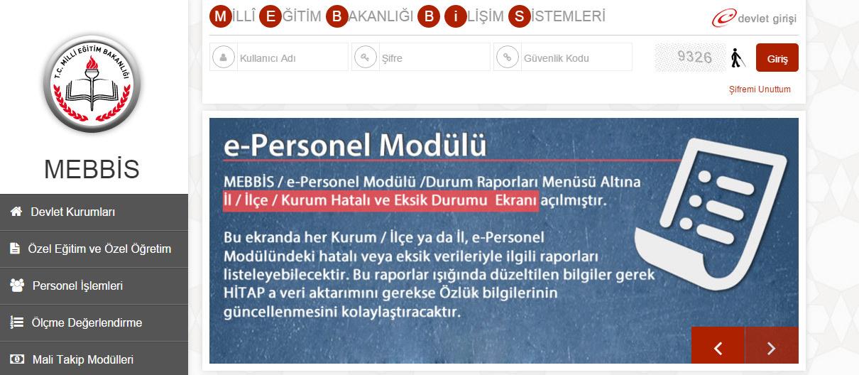 mebbis e kurs eba ve ücretli öğretmen başvuruları için gerekli mebbis modülü internethaber.com'da