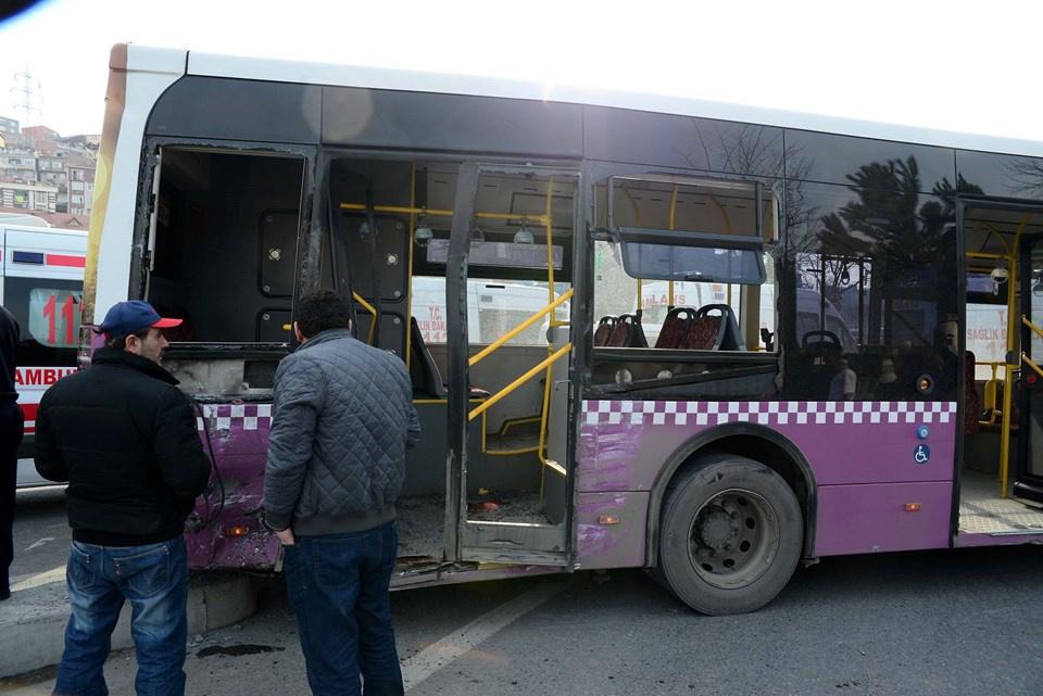 İstanbul Sütlüce'de belediye otobüsü ile kamyon çarpıştı