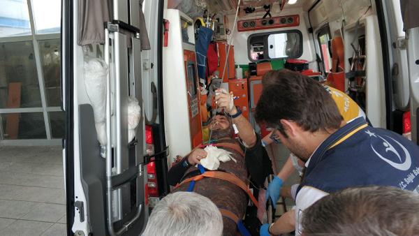 Samsun'da bir kişi karnına saplanan zıpkınla hastaneye kaldırıldı - Sayfa 2