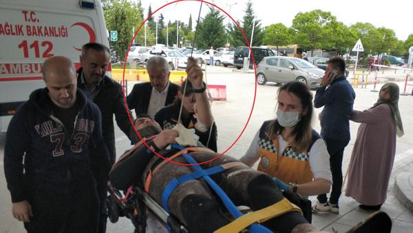 Samsun'da bir kişi karnına saplanan zıpkınla hastaneye kaldırıldı - Sayfa 3