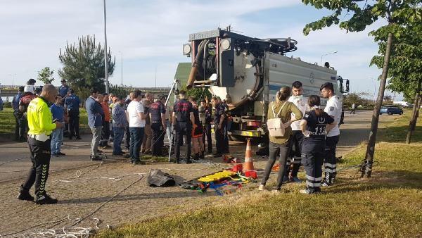 Trabzon'da kanalizasyon çukuruna düşen işçi kayboldu - Sayfa 2