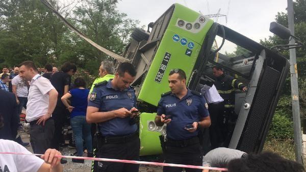 Kocaeli'de halk otobüsü devrildi 6 yaralı - Sayfa 1