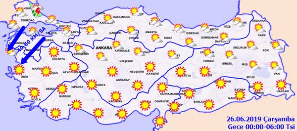 Meteorolojiden Trakya'ya güneş çarpması uyarısı - Sayfa 1