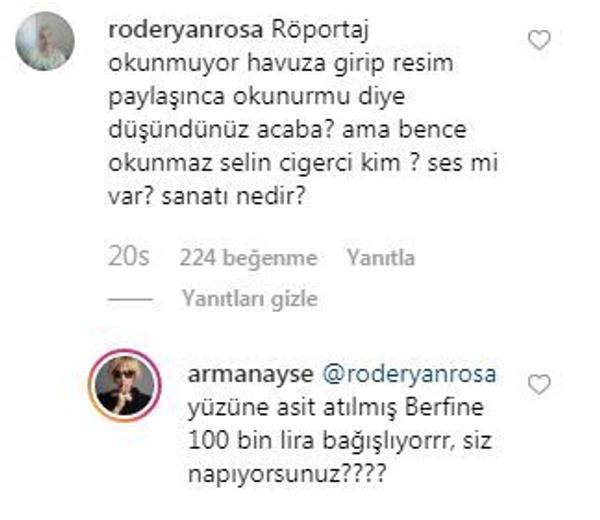 Ayşe Arman Selin Ciğerci ile röportajı duyurdu! Bir takipçisi sinirlendirince cevabı yapıştırdı! - Sayfa 3