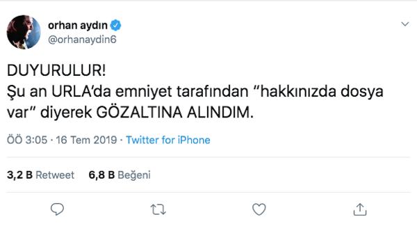 Gözaltına alınan Orhan Aydın serbest bırakıldı! Sebebi Esra Elönü çıktı - Sayfa 2
