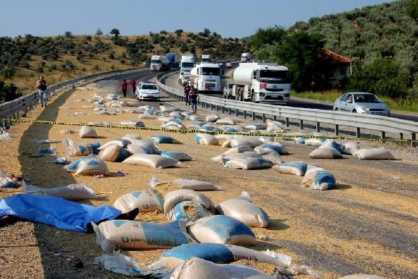 Yem yüklü kamyon traktöre çarptı! Ortalık savaş alanına döndü! 2 ölü var - Sayfa 2