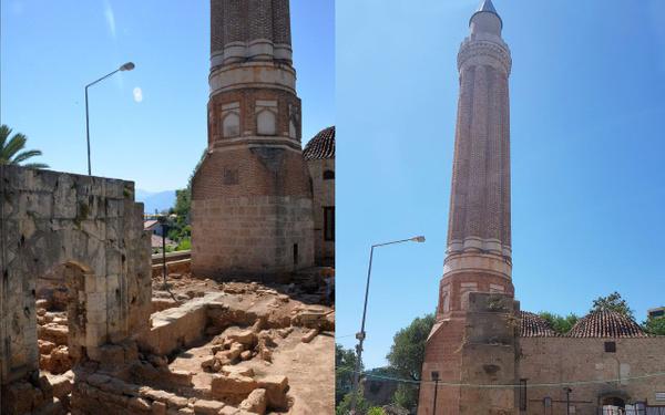 Antalya'da tarihi minarenin yanında ortaya çıktı tam 30 adet - Sayfa 1